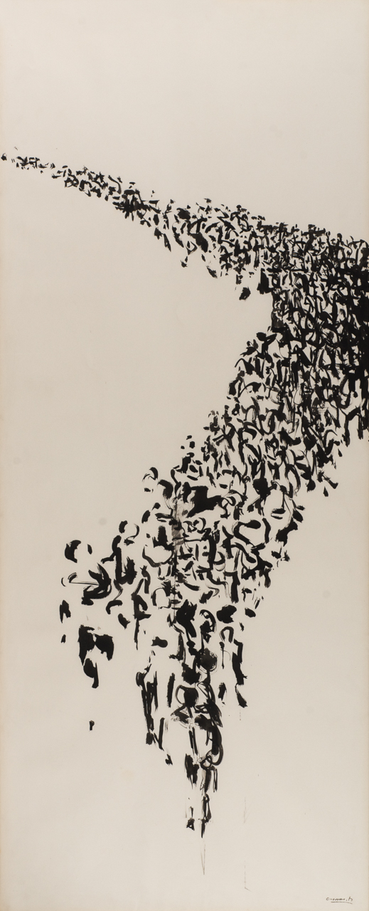 Chinese ink on paper from the Exile series, by spanish artist Jose Maria Guerrero Medina