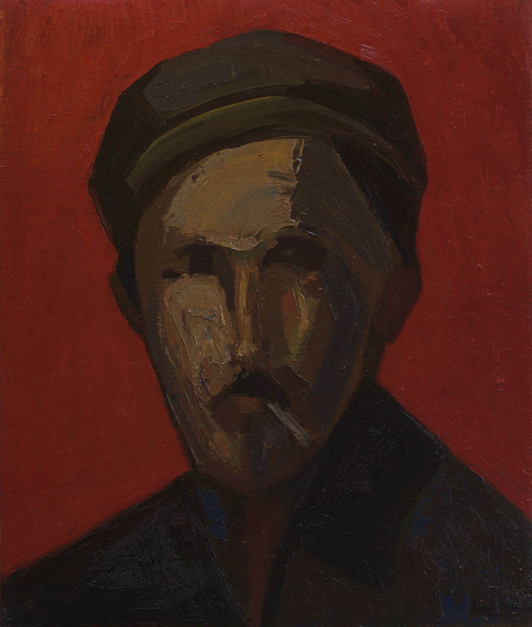 Anonymous Portrait, from the Exile series, oil on canvas by spanish artist Jose Maria Guerrero Medina