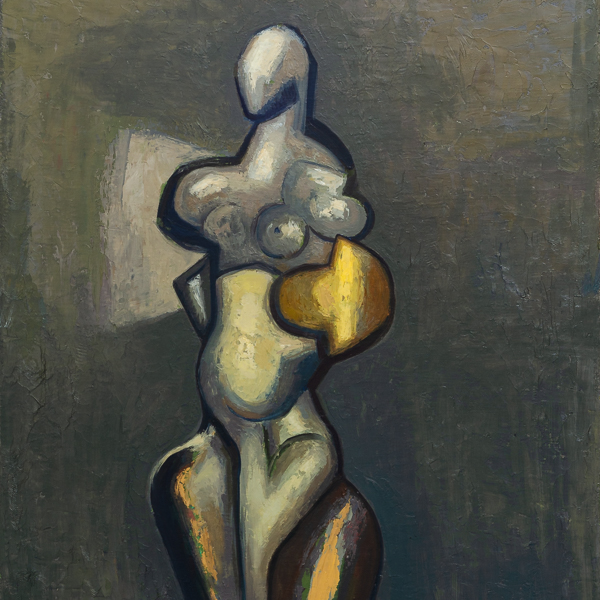 Grey series, oil on canvas by Guerrero Medina