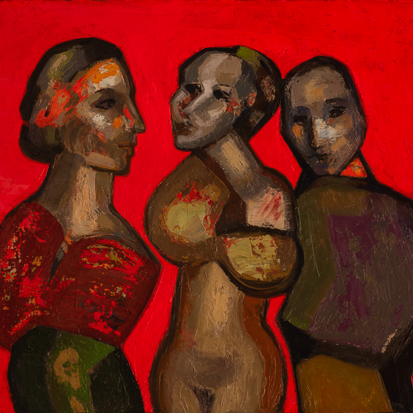 Red series, oil on canvas by Guerrero Medina